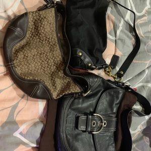 3 coach purses with dust bag